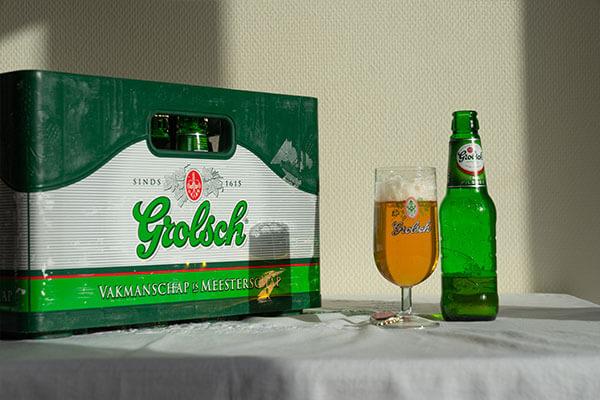 Krat Grolsch Bier