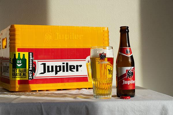 Krat Jupiler Bier